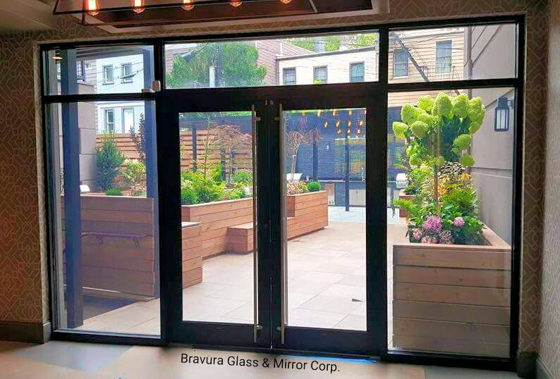 ALUMINUM DOORS Bravura Glass Mirror Corp Bravura Glass Mirror C