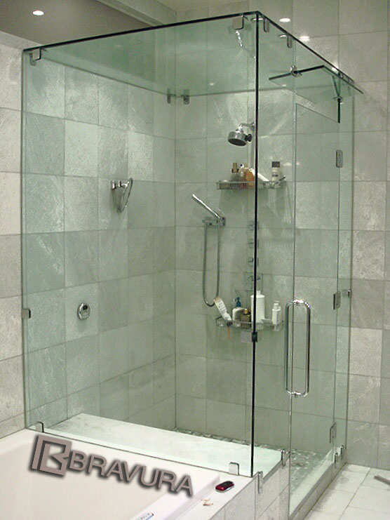 Right Angle New York City Shower Doors